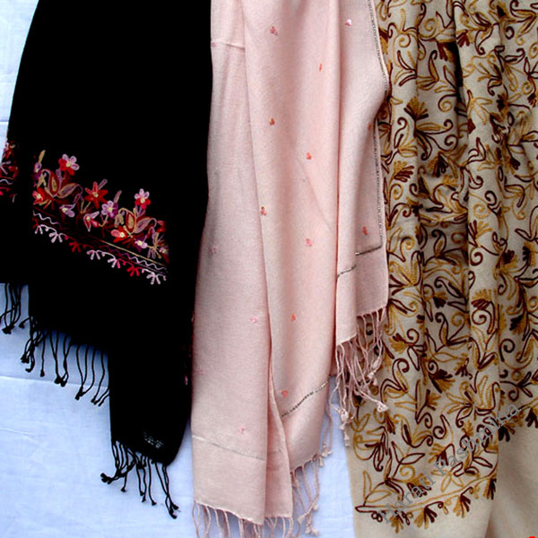 bead and embroridery handworked shawls